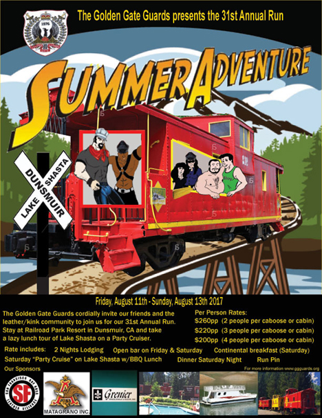 Summer adventure flyer art